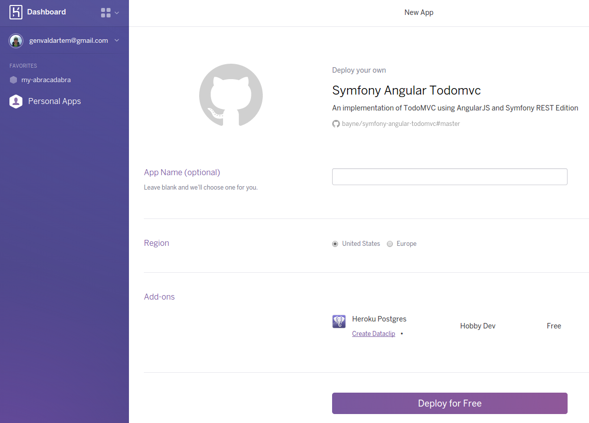 Deploying Symfony2 applications on Heroku Cloud