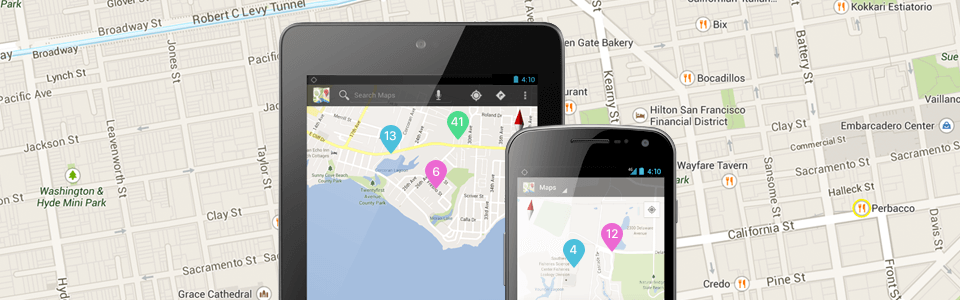 Working with Google Maps in Android. Clustering of markers
