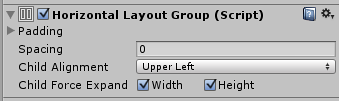 Horizontal Layout Group