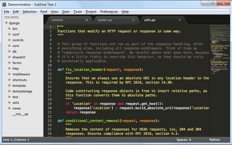 Sublime Text for web developers
