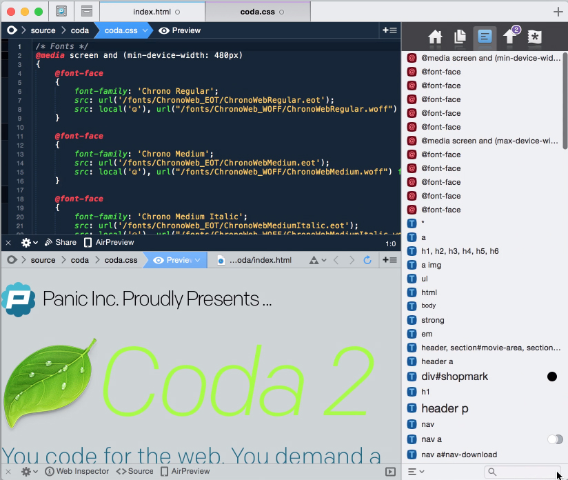Coda for web developers