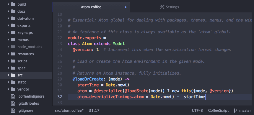 Atom for web developers