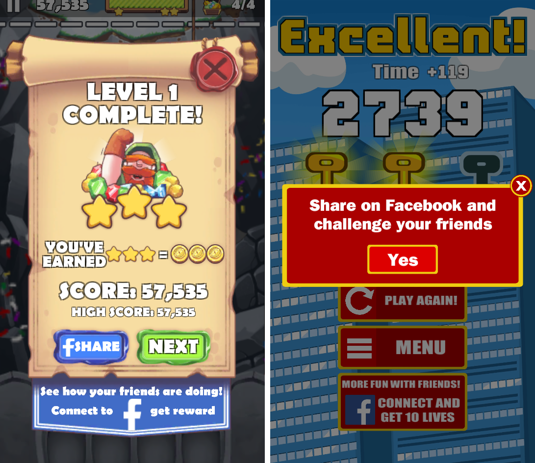 Treasure Pop Bubble Shooter and City Jumper — Level complete