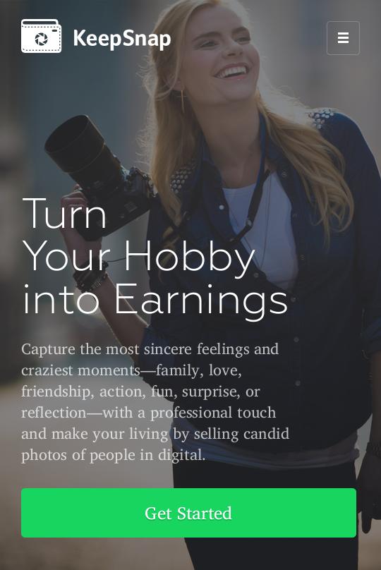 Мобильный адаптивный сайт для фотографов и их клиентов