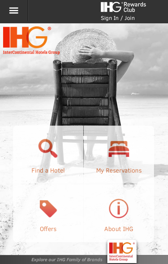Mobile responsive website for hotel group