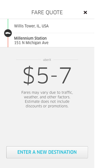 Calculating ride cost in Uber