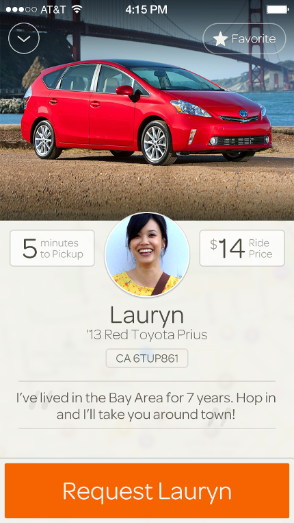 Driver profile in Sidecar app