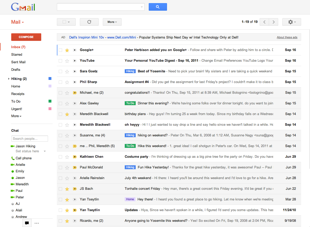 Gmail is a web app