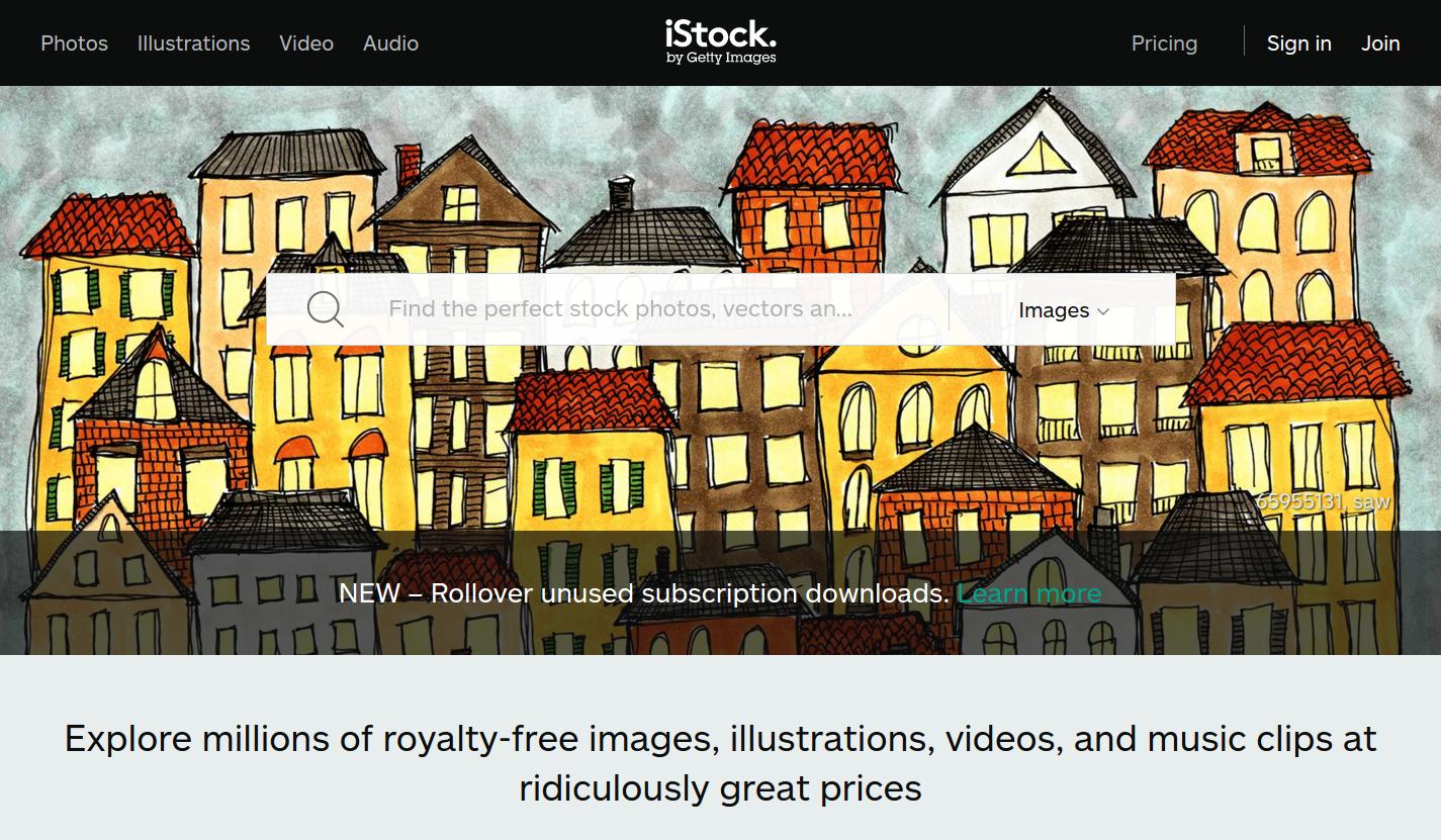iStock использует AngularJS