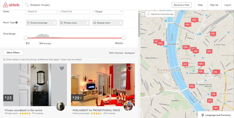 Airbnb сегодня