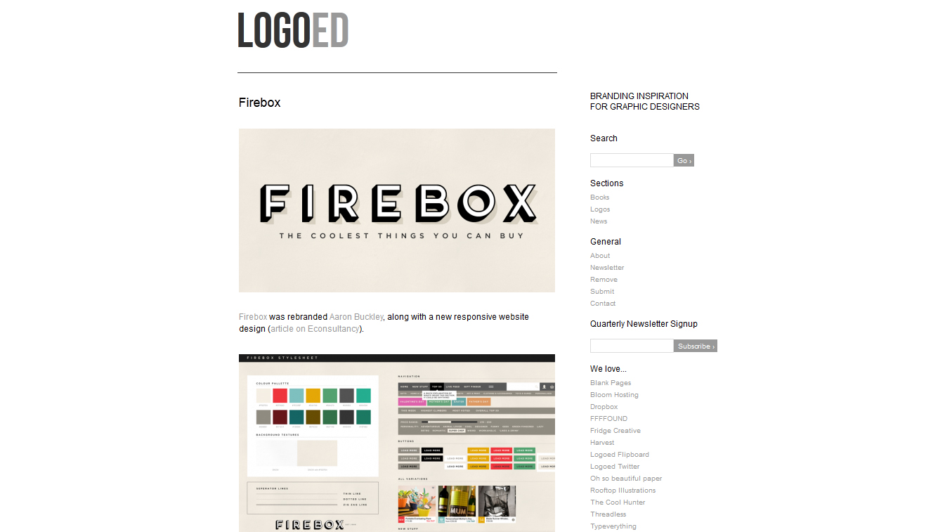 Blog collecting logos