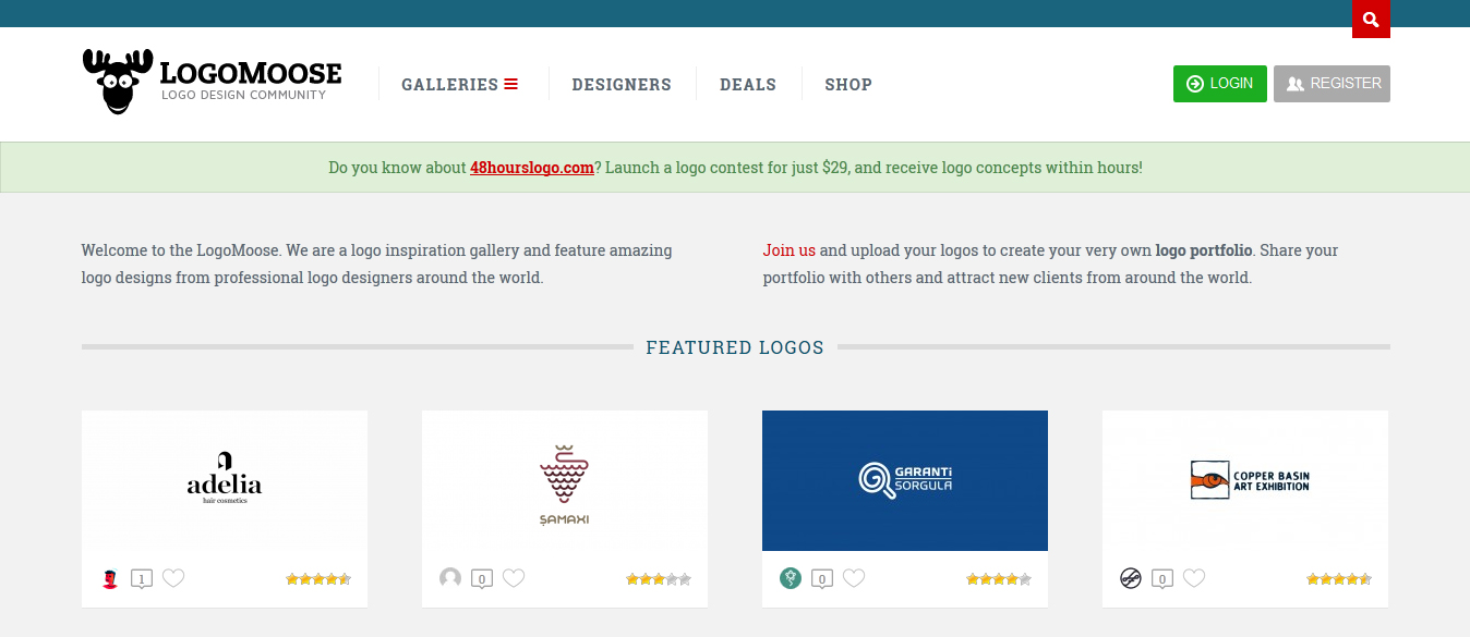 Social network for logo designers
