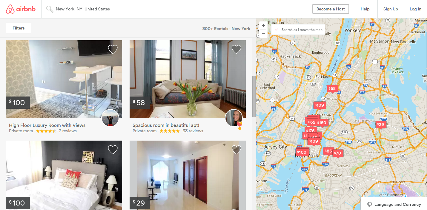 Airbnb is a problem solving startup example
