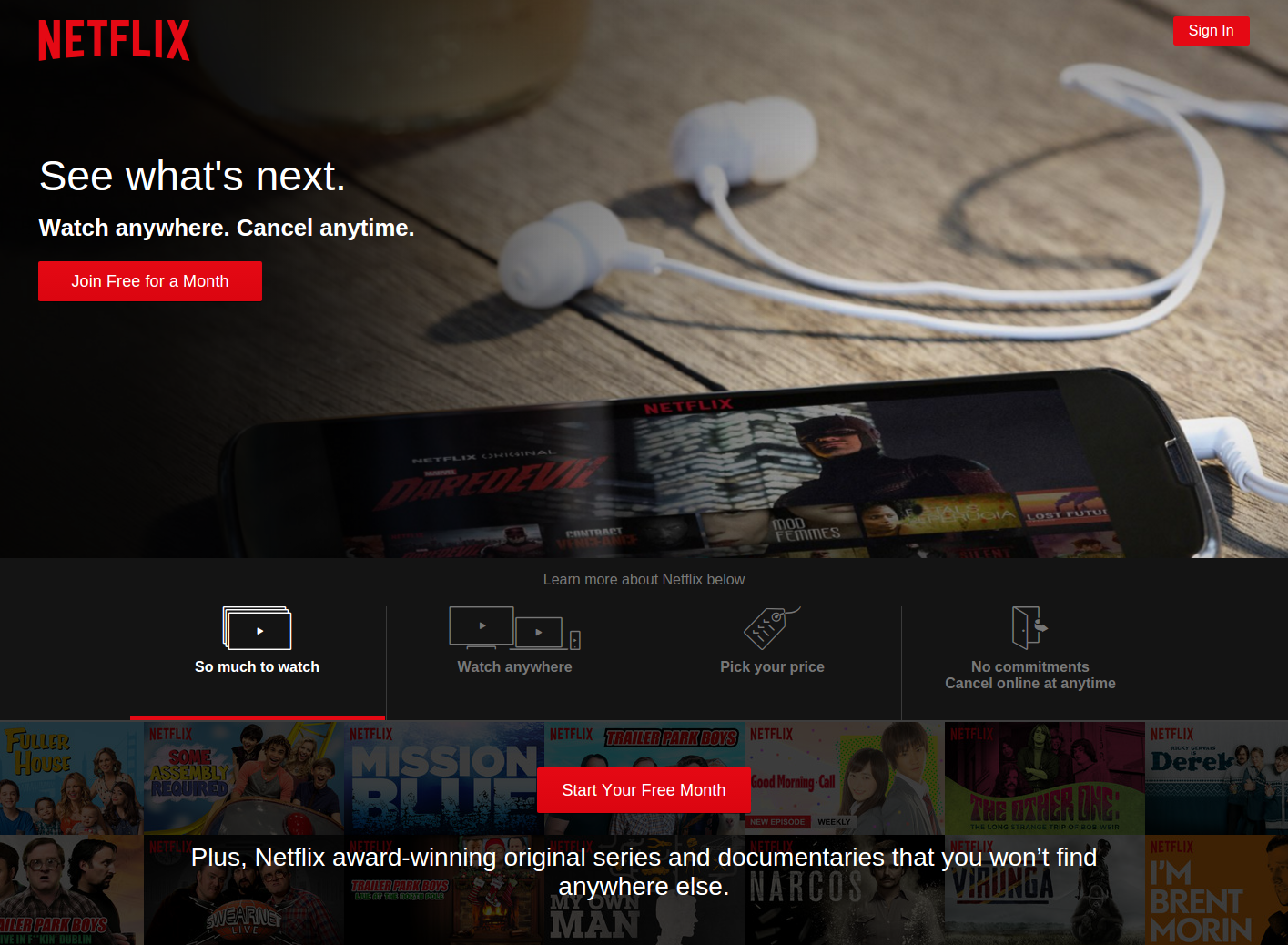 Netflix has solved the problem of watching TV series over the Internet