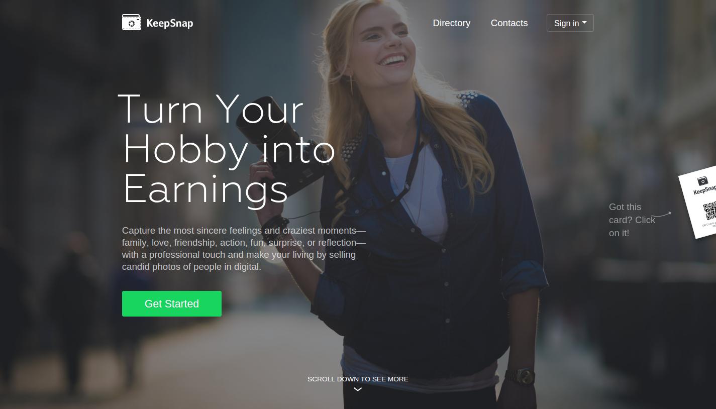 Keepsnap — сайт с адаптивной версткой
