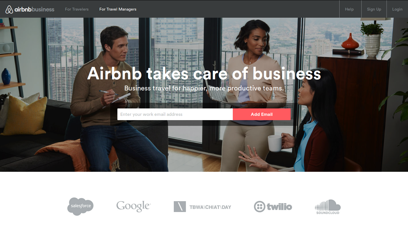 Airbnb for Business is an example of creating product for noncustomers