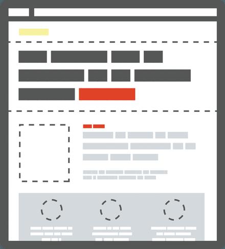 Пример иерархии элементов на странице