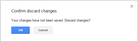 Confirming changes in Google Docs
