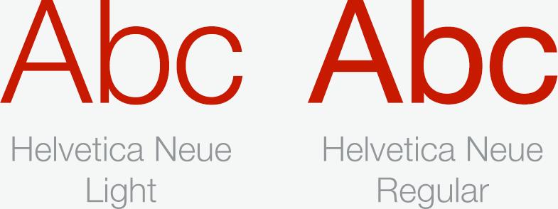 Fonts in Cookorama app