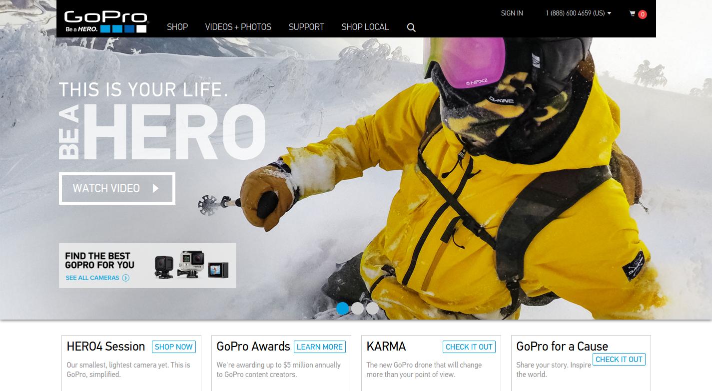 GoPro эффективно использует сторителлинг