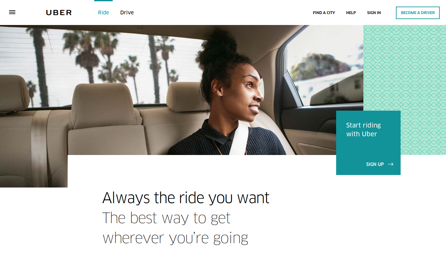 Uber created a unique value proposition