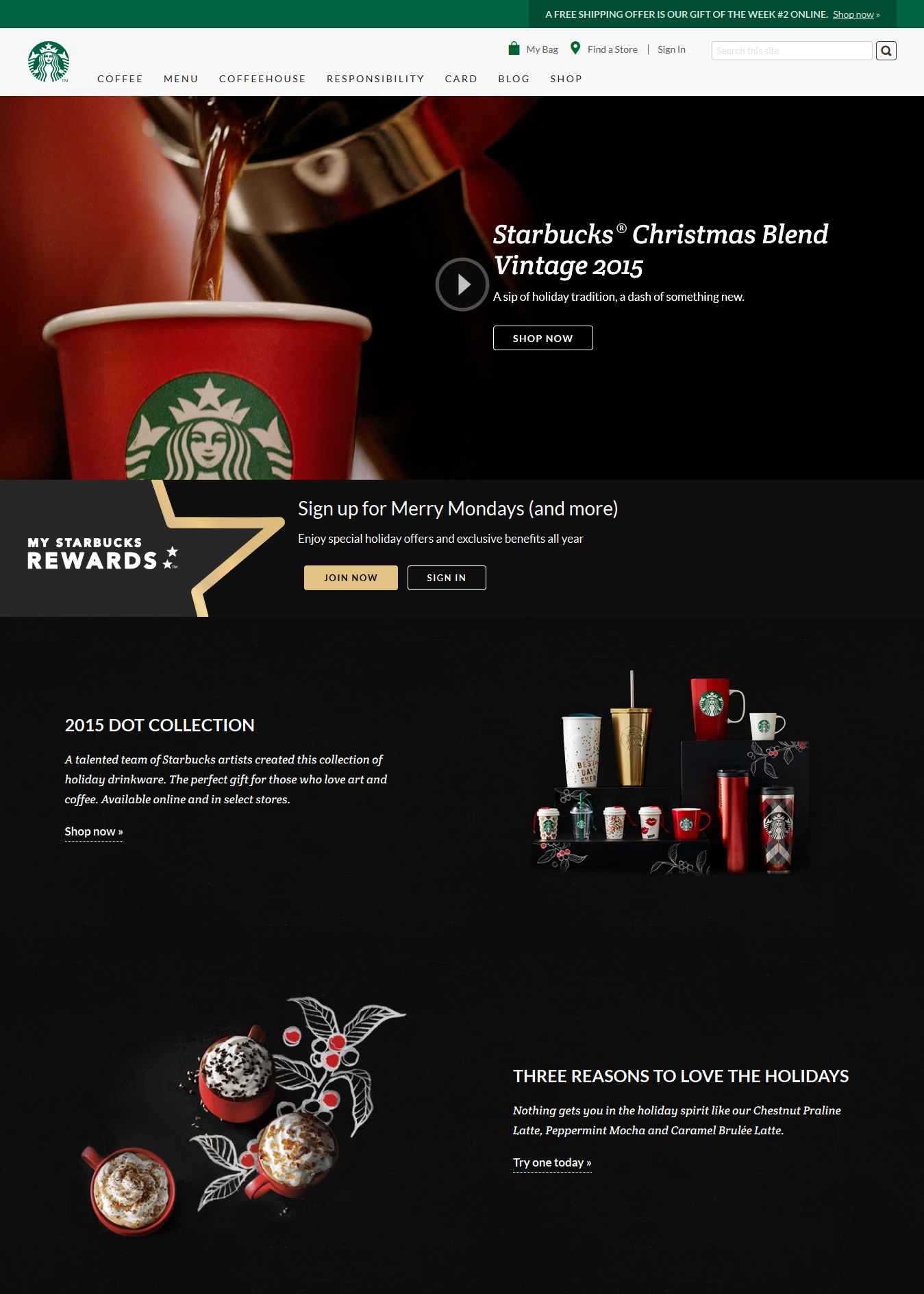 Coffee shop site example