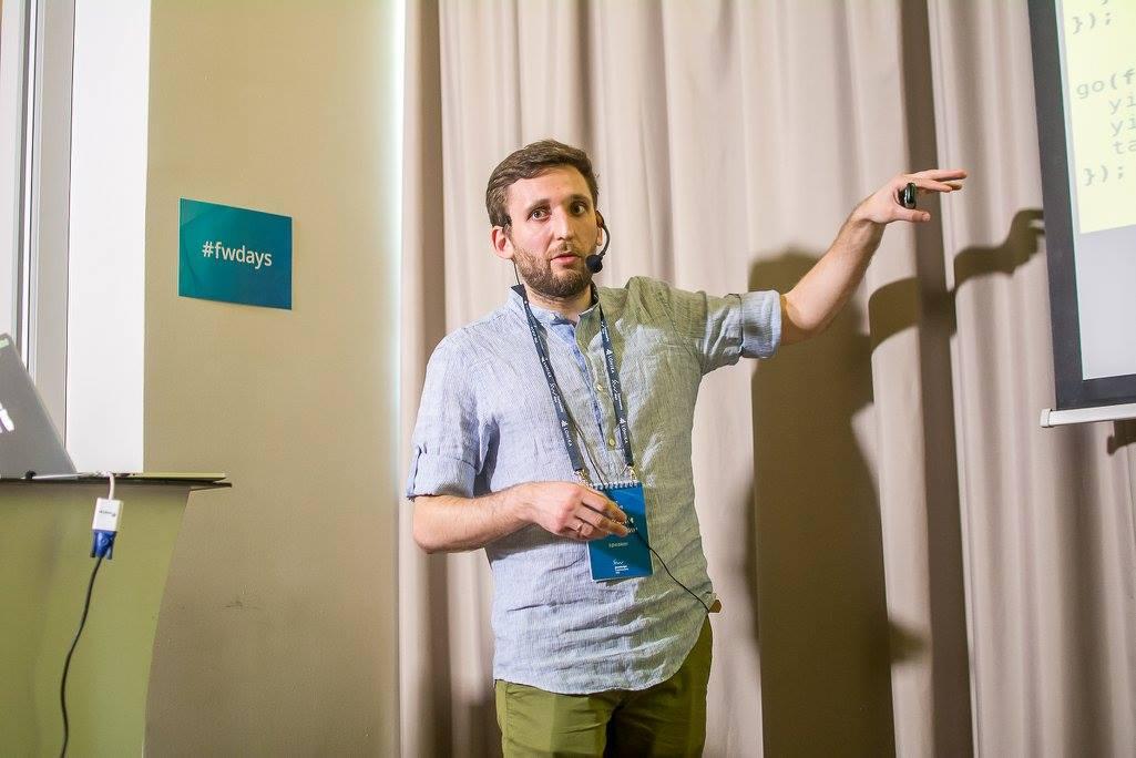 Максим Климишин на JS frameworks day 2016