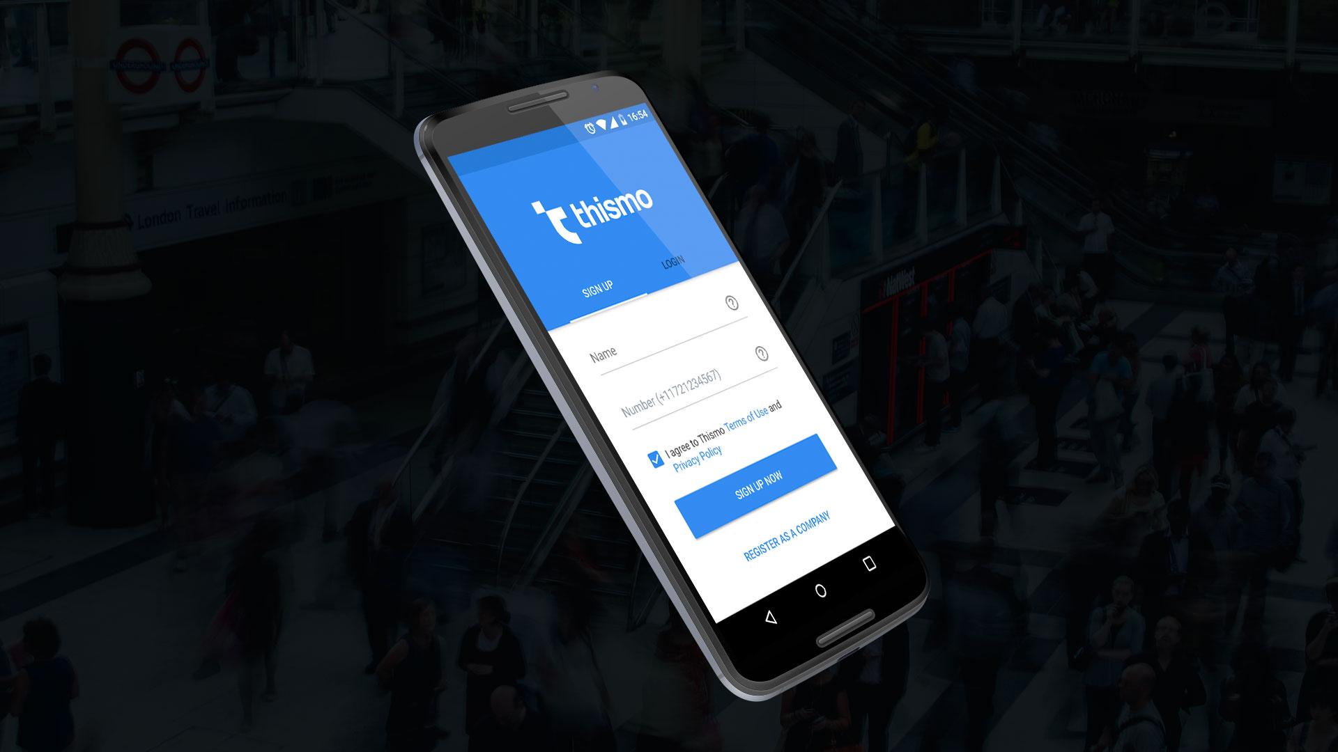 Макет приложения-чата для бизнеса