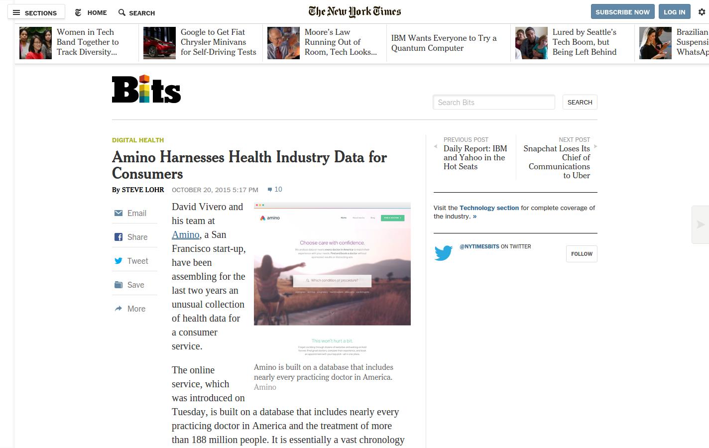 New York Times пишет о стартапах