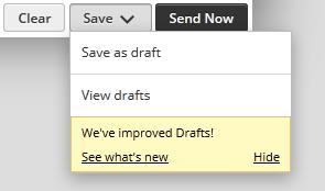 Многофункциональная кнопка Save в веб-интерфейсе Hootsuite