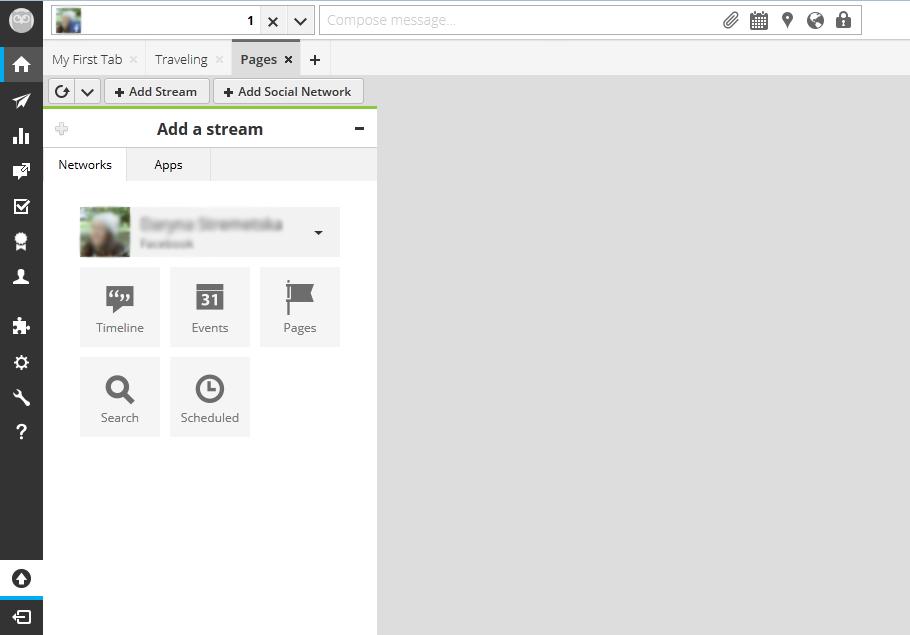 Tabs in Hootsuite web UI