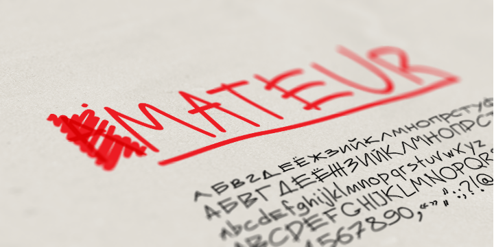 Рукописный шрифт Mateur