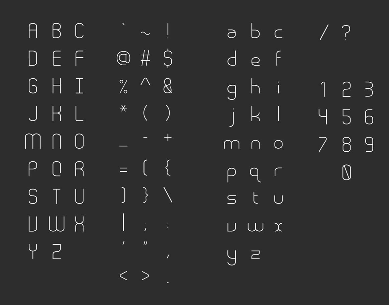 Шрифт для заголовков Stroke