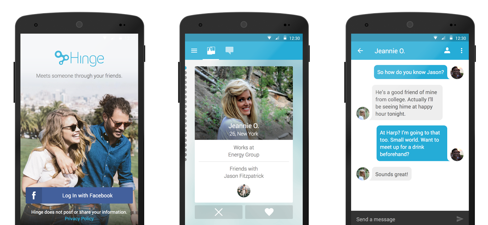 Hinge helps to find a date via mutual friends