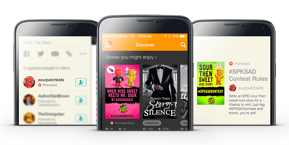 Native ads in Wattpad app
