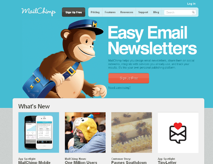 Mailchimp is a service with clear personality