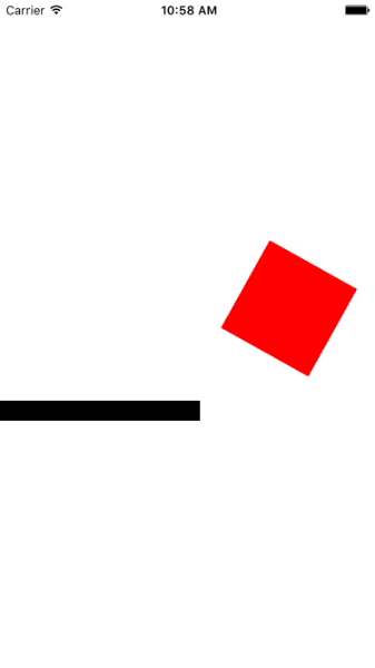 UIKit Dynamics меняем цвет