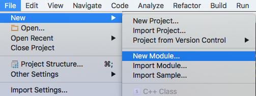 Creating new module in Android Studio