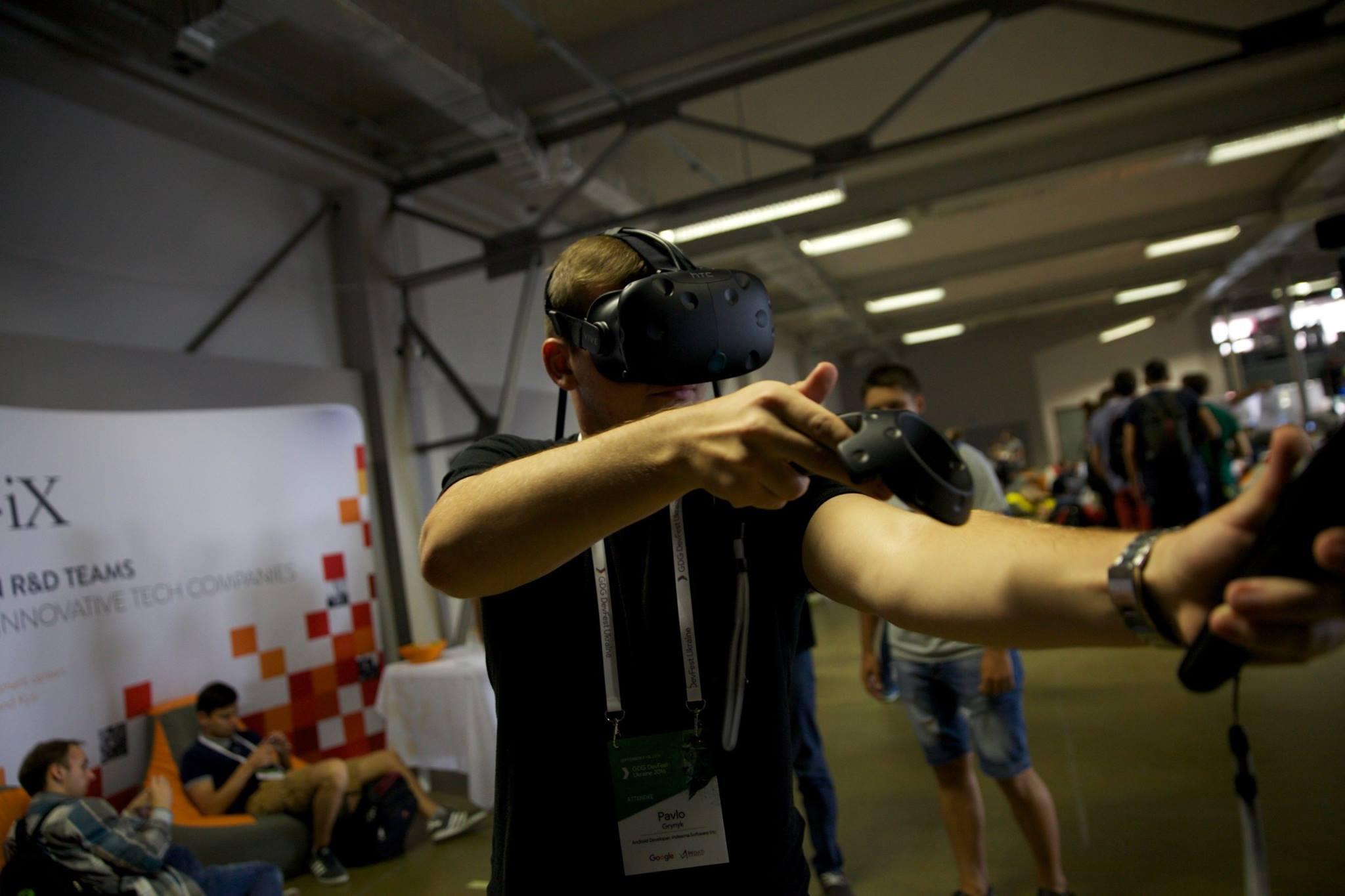 HTC Vive на GDG DevFest 2016