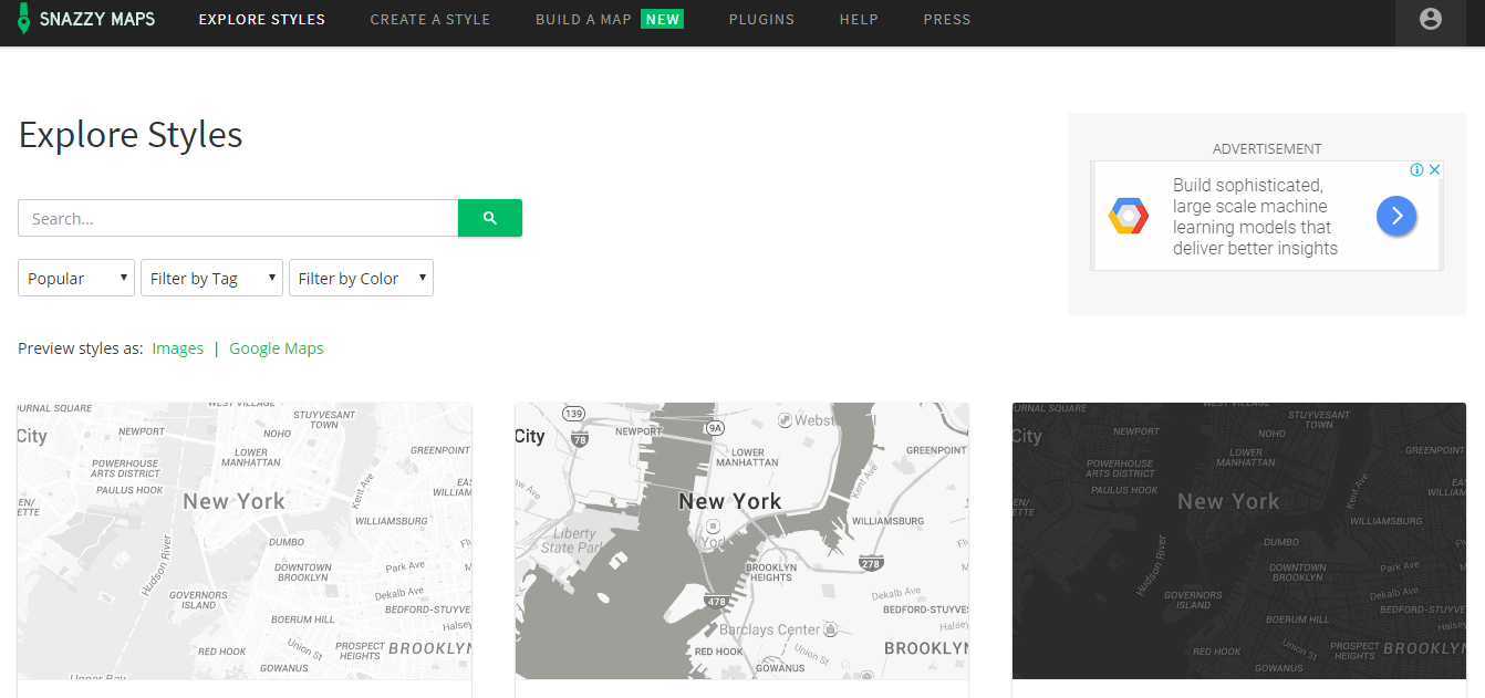 Free tools for designers: map creation | Blog | Web and mobile app on