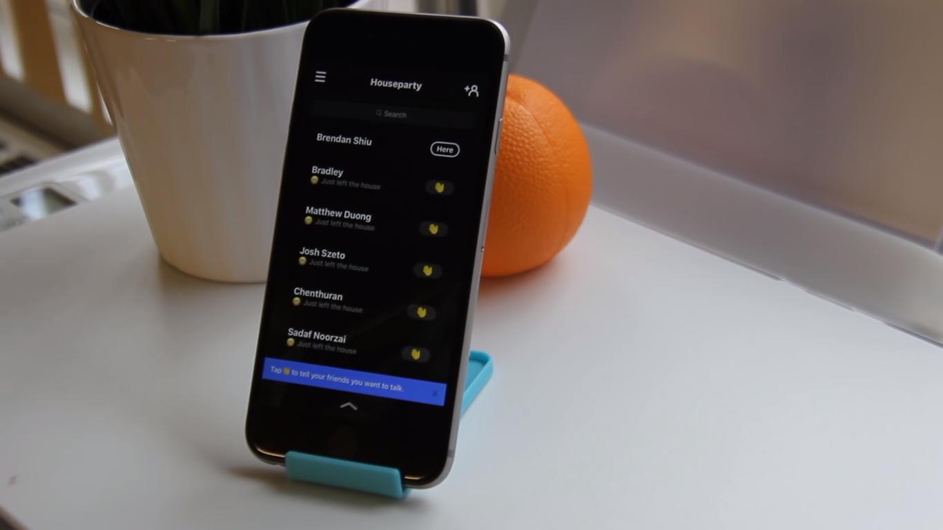 приложение Houseparty первый экран