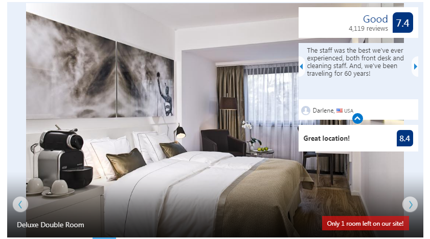 Booking.com travel site review example