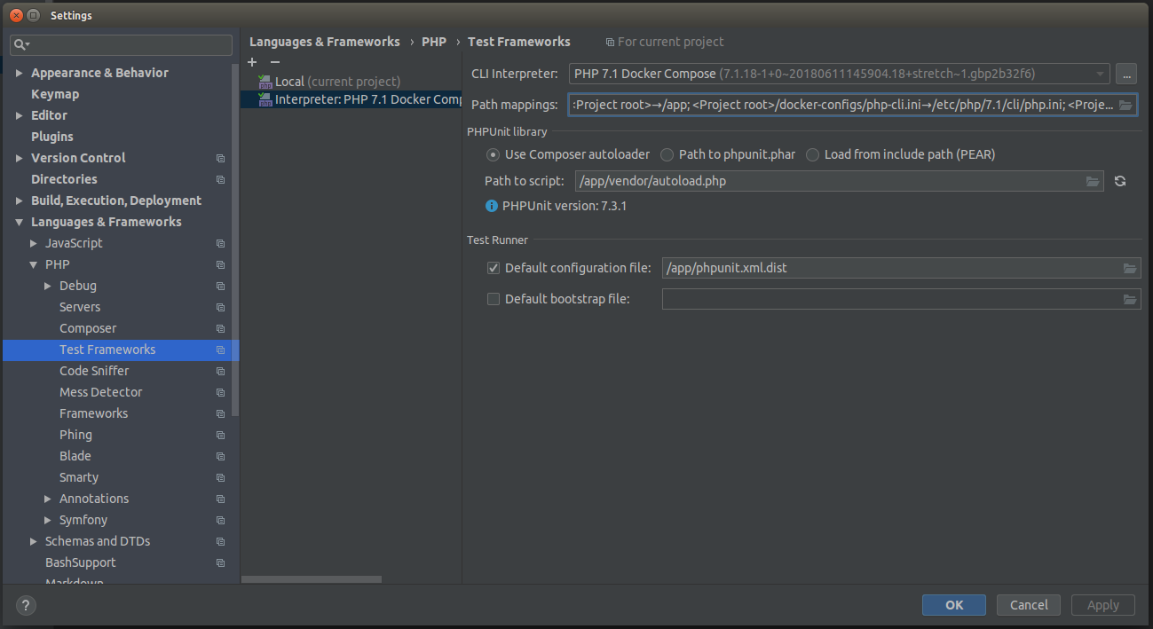 Running PHPUnit Tests with Code Coverage in PHPStorm When Working in
