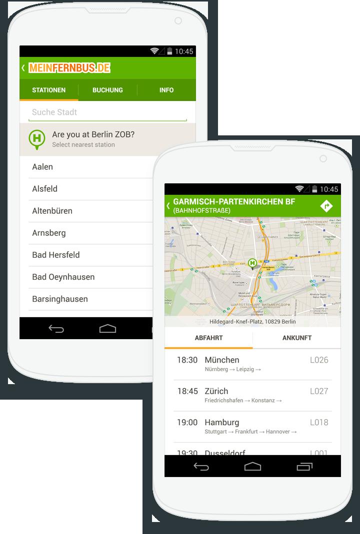 MeinFernbus для Android