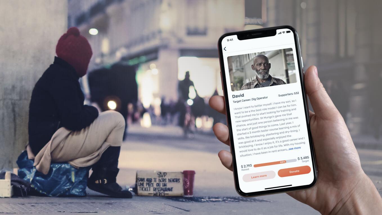 Приложение для помощи бездомным